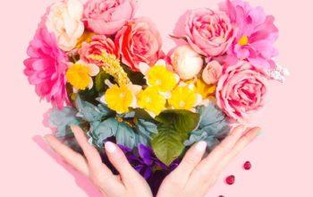 kwiaty serce